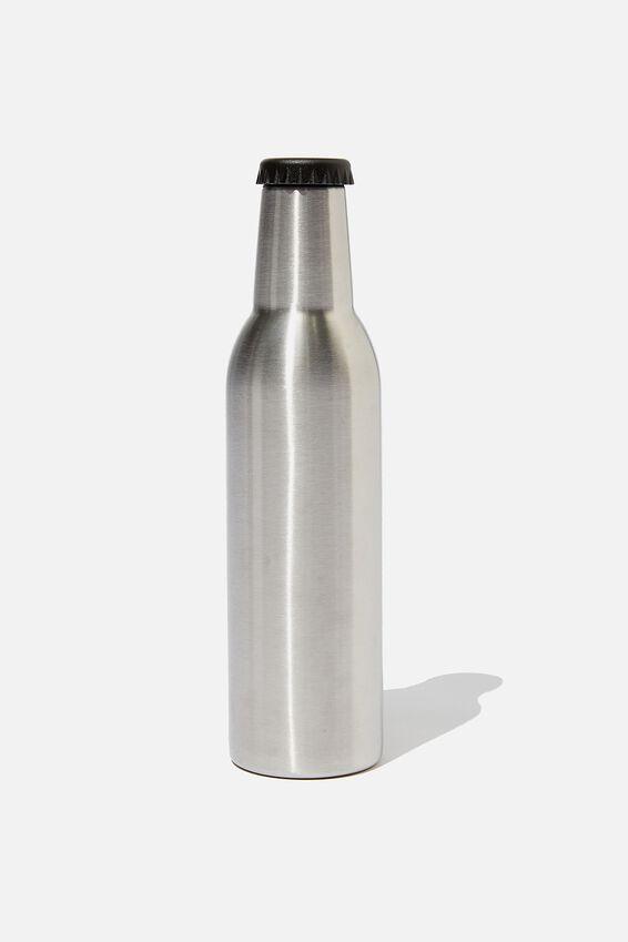 Bottle Top Metal Drink Bottle, SILVER