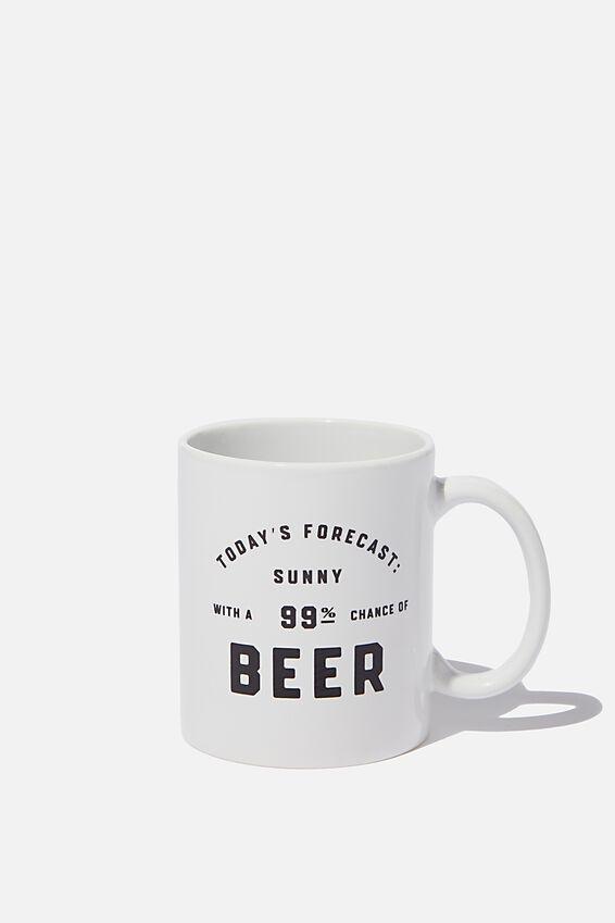 Anytime Mug, FORECAST 99% BEER!