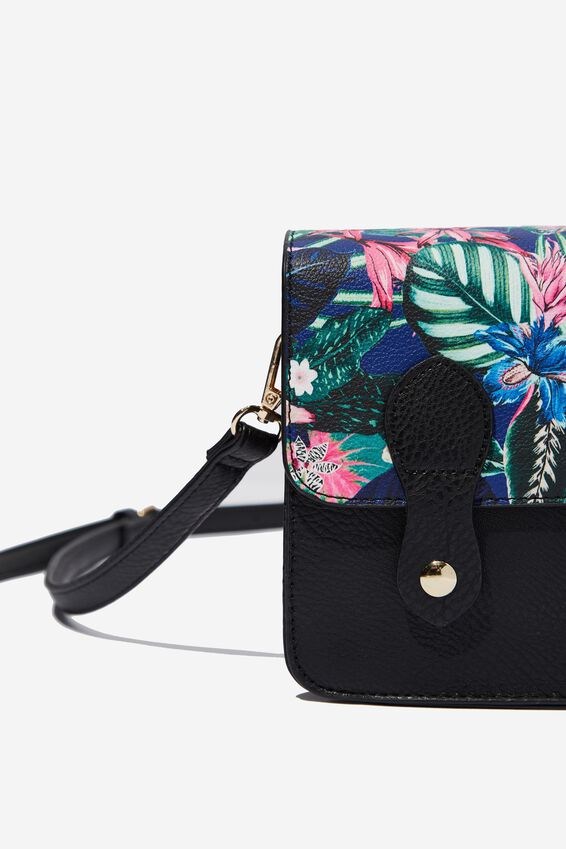 Mini Buffalo Satchel Bag, RESORT FLORAL