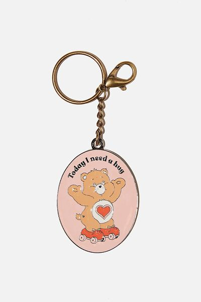 Enamel Keyring, LCN CLC CARE BEARS TODAY I NEED A HUG