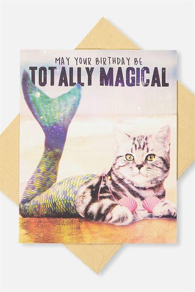 Funny Birthday Card, MARGICAL MERCAT
