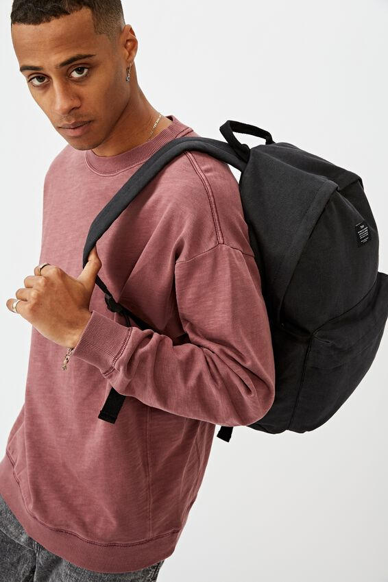 Fundamental Backpack Cvs, WASHED BLACK