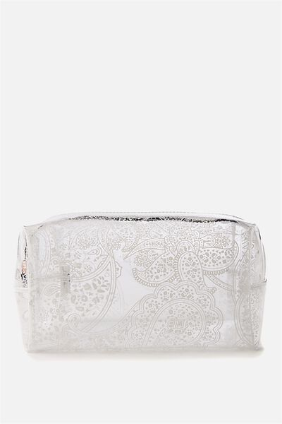Made Up Cosmetic Bag, WHITE LACE