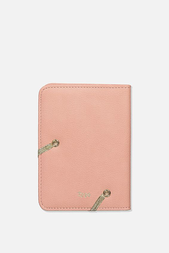 Rfid Passport Holder, DUSTY ROSE