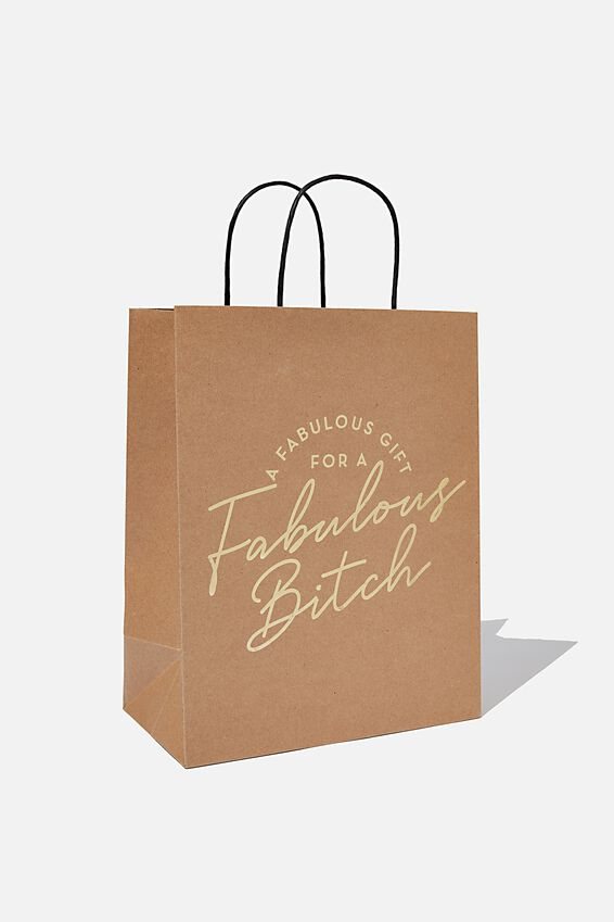 Get Stuffed Gift Bag - Medium, HB FABULOUS BITCH!