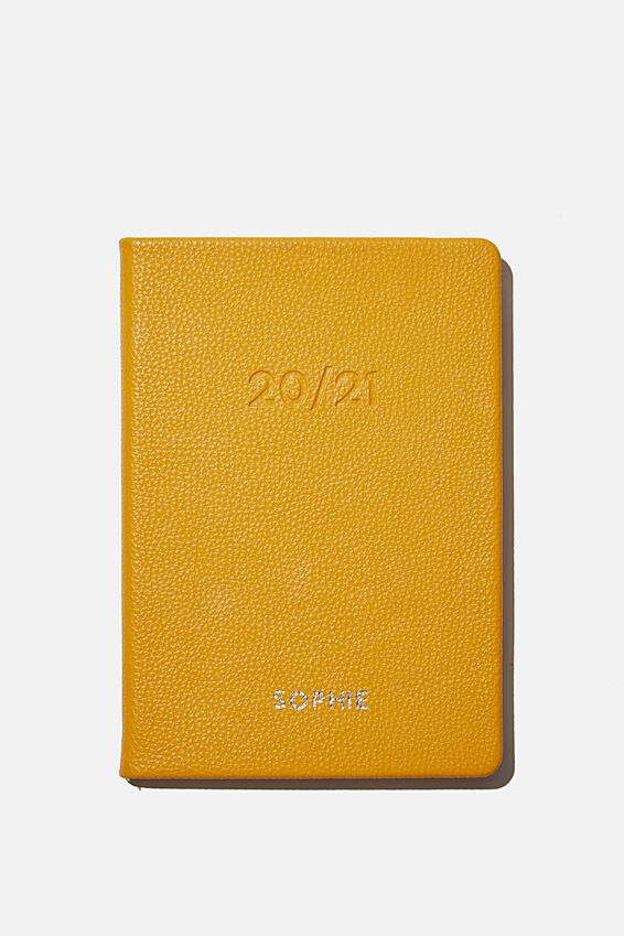 Personalisation 2020 21 A5 Weekly Buffalo Diary, MUSTARD