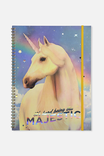 A4 Spinout Notebook - 120 Pages, ITS HARD BEING THIS MAJESTIC