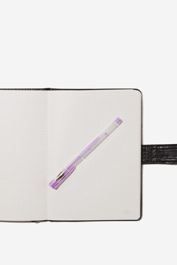 A5 Note Taker Dot Journal, BLACK CROC