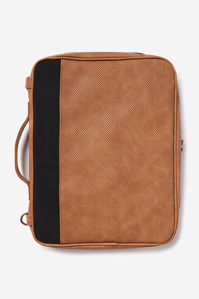 Mobile Laptop Folio, BLACK & TAN