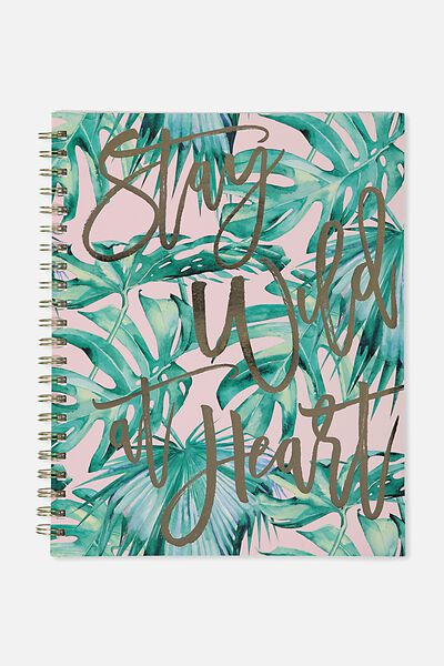 A4 Campus Notebook, PALM WILD AT HEART