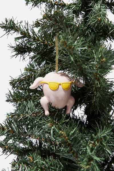 Resin Christmas Ornament, LCN WB FRIENDS TURKEY