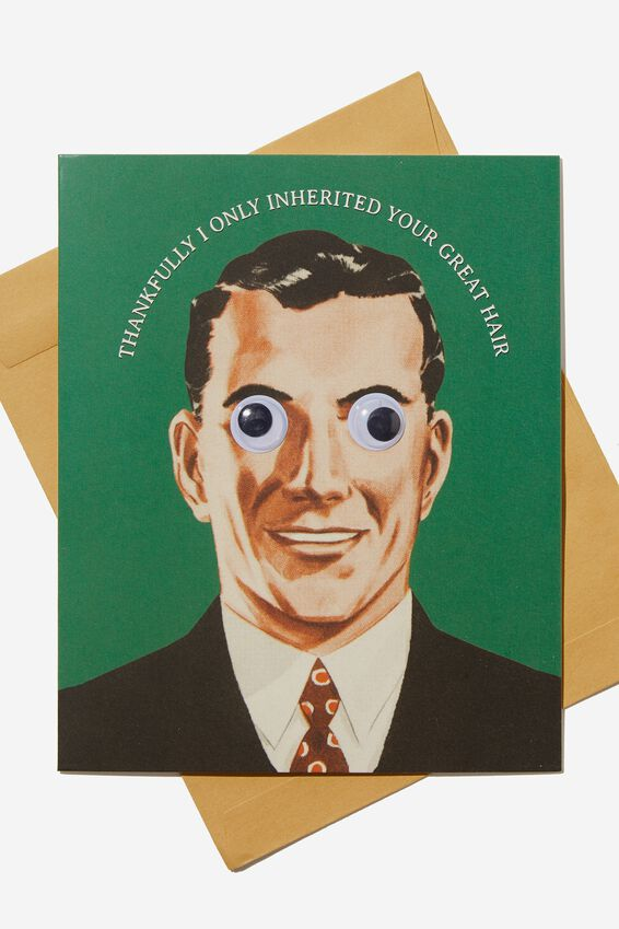 Premium Funny Birthday Card, GOOGLEY EYE MAN