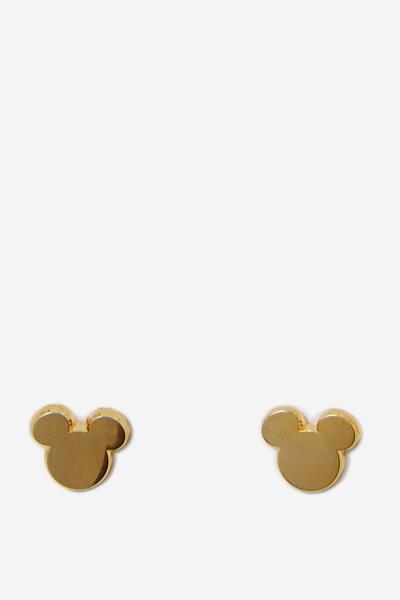 Novelty Earrings, LCN GOLD MICKEY