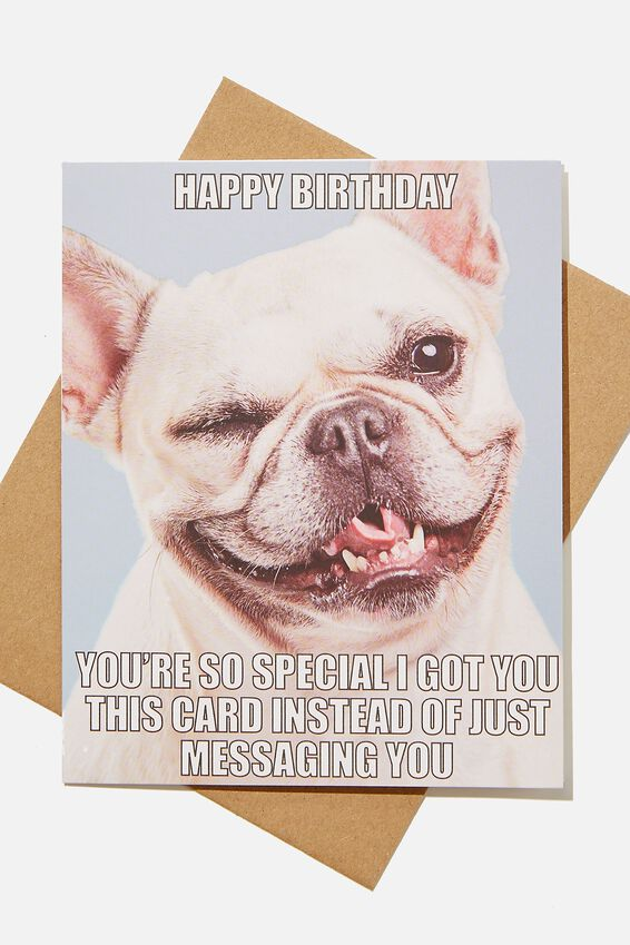Funny Birthday Card, GOT YOU THIS CARD DOG WINK!