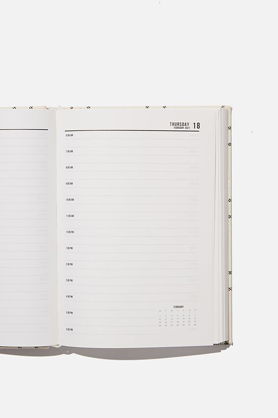 2021 A5 Oxford Daily Diary, DASHED GRID