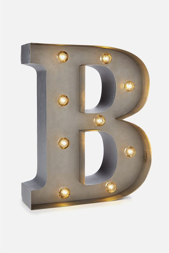 Small Marquee Letter Lights 23cm, SILVER B