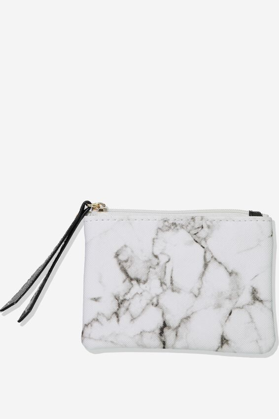 Fashion Coin Purse, WHITE MARBLE