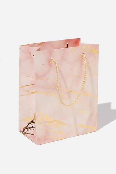 Small Stuff It Gift Bag, MARBLE PINK GOLD