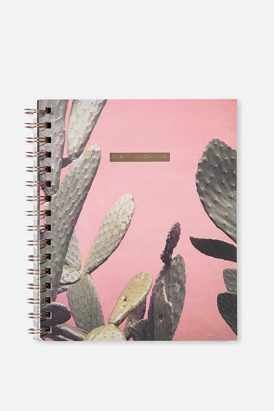 A5 Campus Notebook - 240 Pages, CANT TOUCH CACTUS
