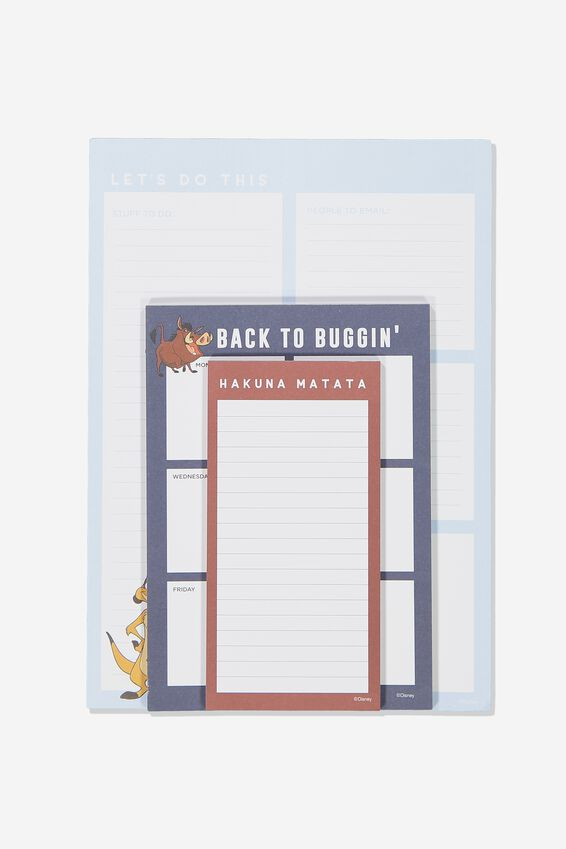 Lion King Notepad 3Pk, LCN DIS LION KING