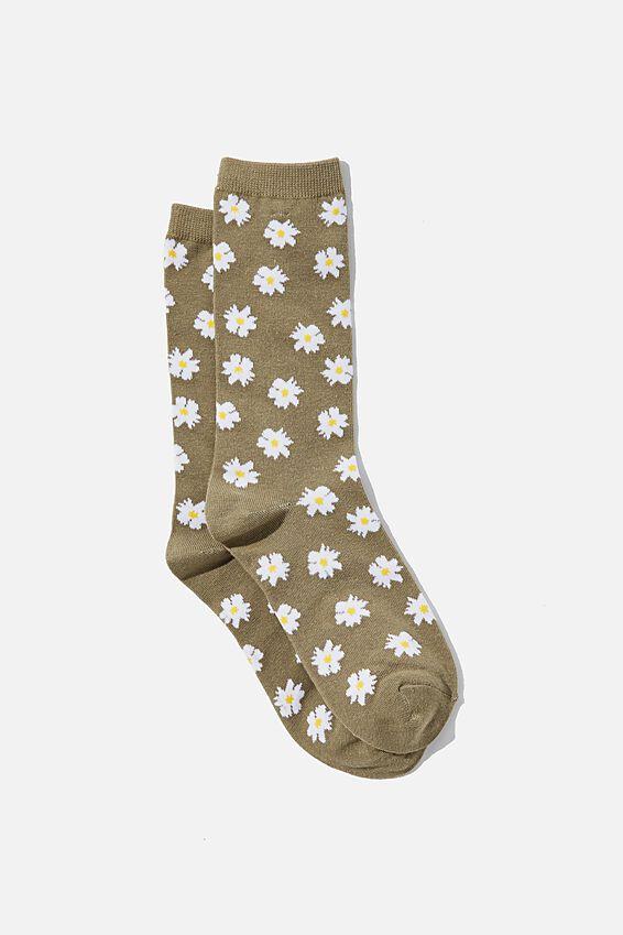 Socks, KHAKI DAISIES