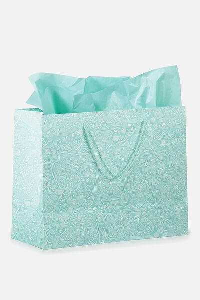 Stuff It Gift Bag Medium With Tissue Paper, WHITE LACE