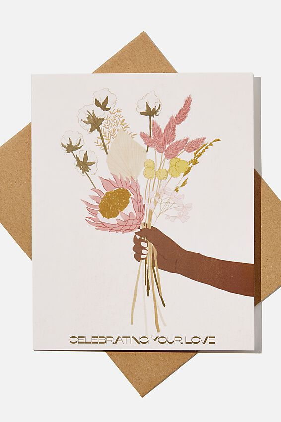 Wedding Card, CELEBRATING YOUR LOVE BOUQUET