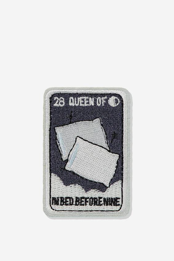 Fabric Badge, QUEEN OF BED
