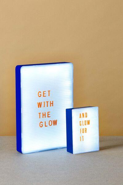 Peg Board Light Box, BLUE & CLEAR