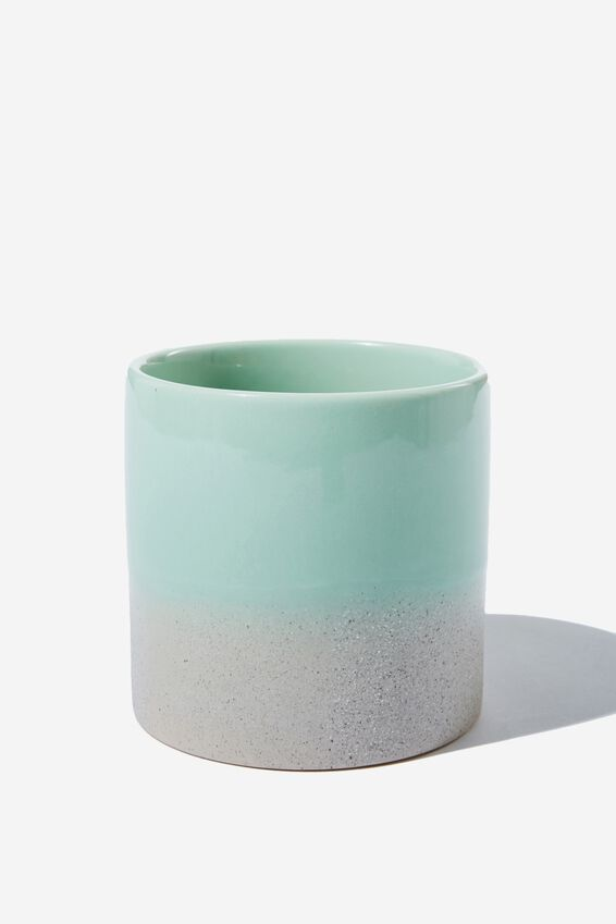 Small Shaped Planter, GREEN DUO
