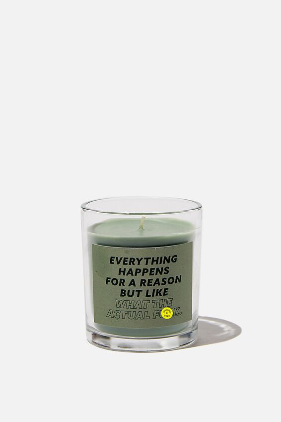 Talk To Me Candle Small, WHAT THE ACTUAL F#$K!