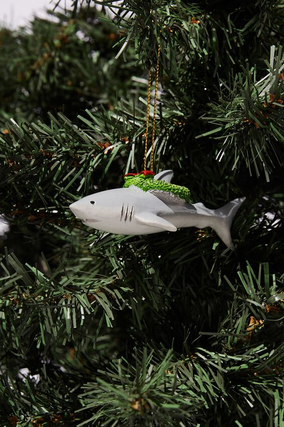 Resin Christmas Ornament, BRUCE IN WREATH
