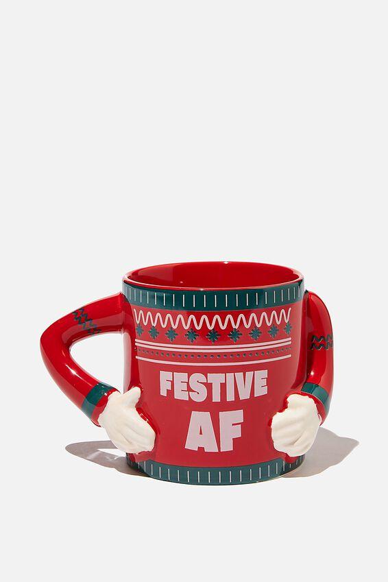 Shaped Mug, FESTIVE AF SWEATER!!