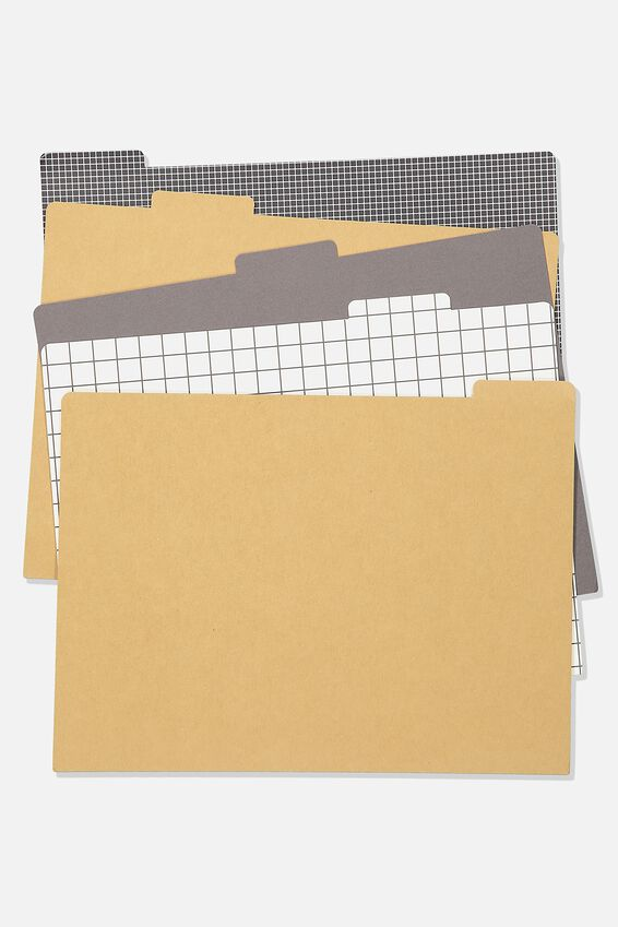 Manila Folders 5Pk, GRID