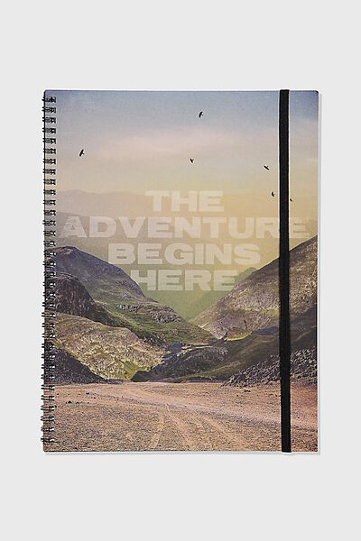 A4 Spinout Notebook Recycled, THE ADVENTURE BEGINS