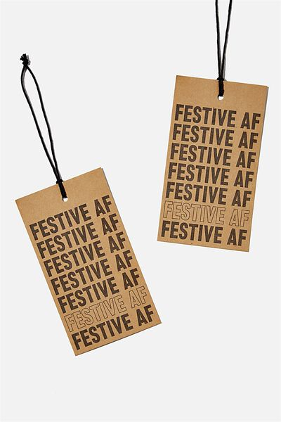 Jumbo Gift Tag Pack, FESTIVE AF KRAFT!