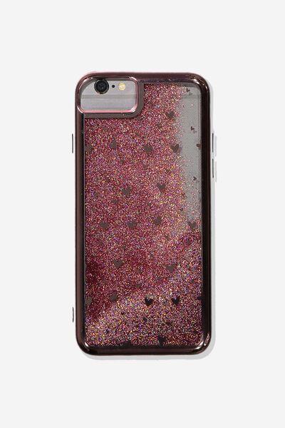 Shake It Phone Case Universal 6,7,8, ROSE GOLD HEARTS