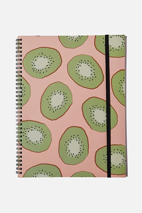A4 Spinout Notebook Recycled, KIWI FRUIT
