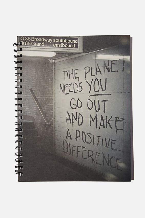 A4 Campus Notebook Recycled, THE PLANET NEEDS YOU