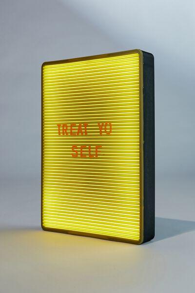 Peg Board Light Box, KHAKI & PAPAYA