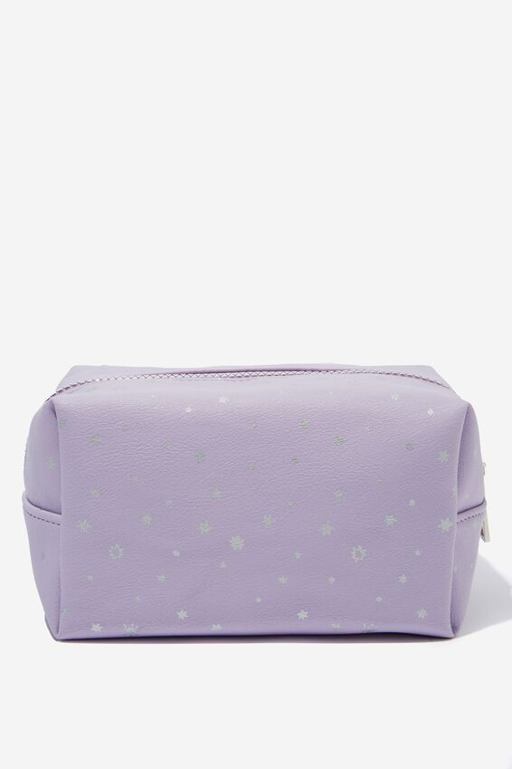 Made Up Cosmetic Bag, LILAC STARS