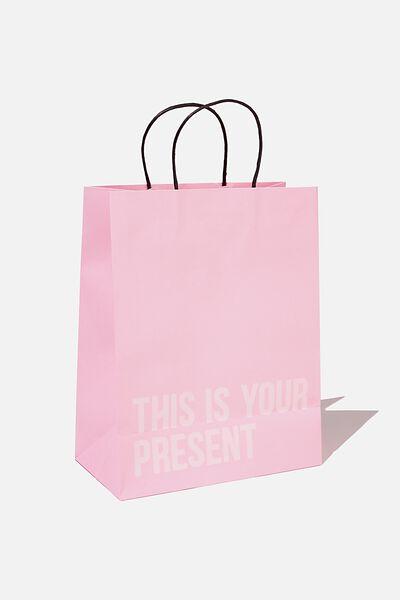 Gift Wrap Service, PLASTIC PINK THIS IS YOUR PRESENT
