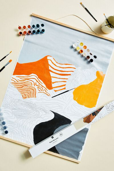 Large A1 Paint By Numbers, MOUNTAIN RANGES