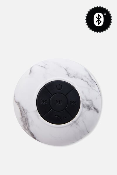 Waterproof Bluetooth Shower Speaker, MARBLE