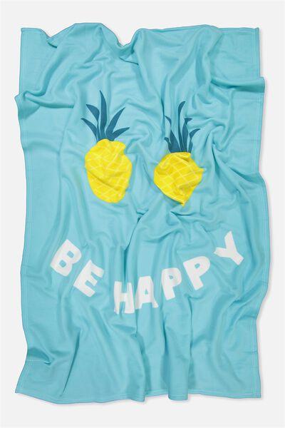Fleecey Blanket, BE HAPPY