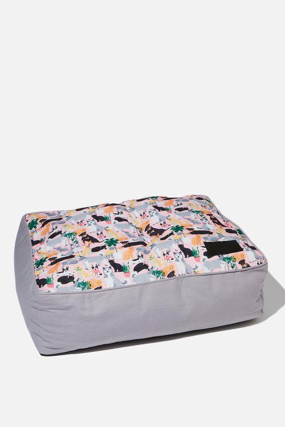 Small Printed Pet Bed, DOGGO PRINT