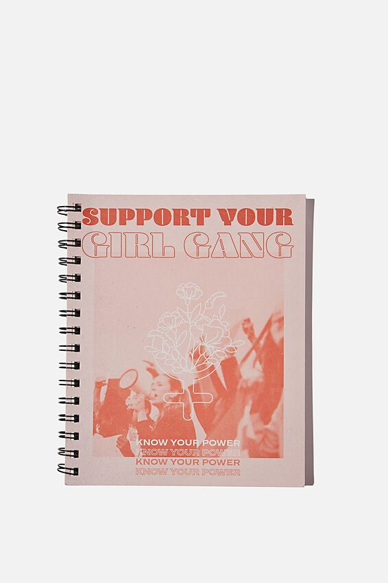 A5 Campus Notebook Recycled, GIRL GANG