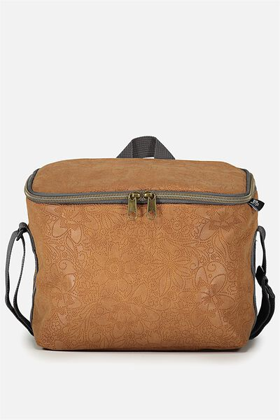 Premium Cooler Lunch Bag, TOOLED TAN