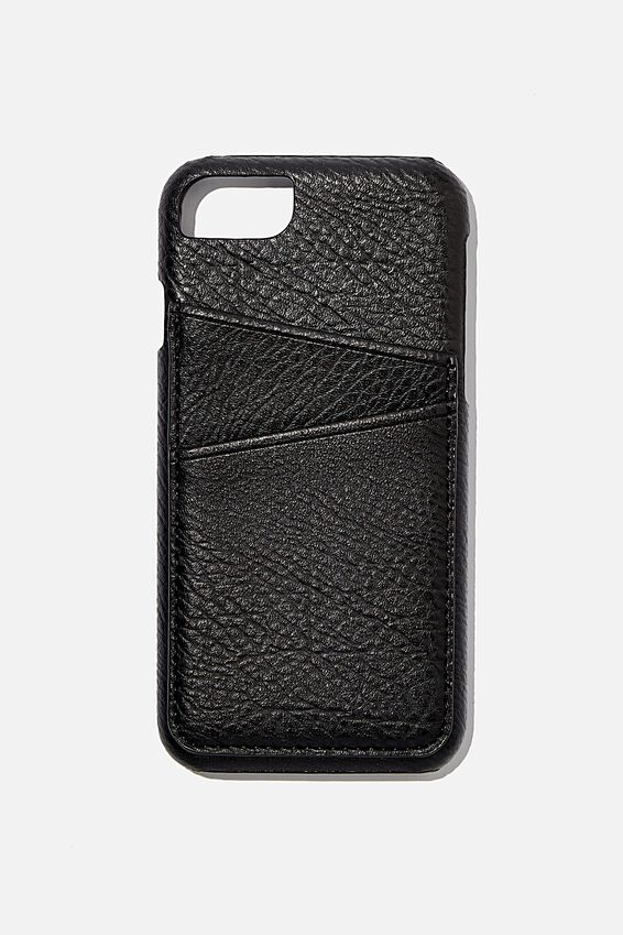 The Phone Case Cardholder SE, 6,7,8, BLACK PEBBLE