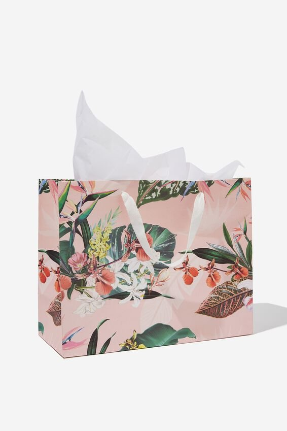 Medium Gift Bag with Tissue Paper, BIRDS OF PARADISE